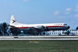 パール大山さんが、マイアミ国際空港で撮影したラクサ L-188C(F) Electraの航空フォト(飛行機 写真・画像)