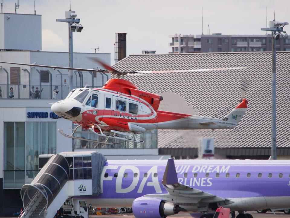 ここはどこ?さんの北海道防災航空隊 Bell 412 (JA6775) 航空フォト