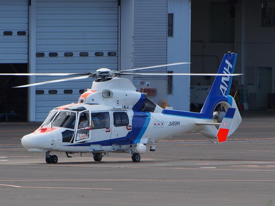 ここはどこ?さんのオールニッポンヘリコプター Eurocopter AS365/565 Dauphin 2/Panther (JA65NH) 航空フォト