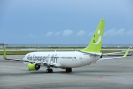 安芸あすかさんが、那覇空港で撮影したソラシド エア 737-881の航空フォト(飛行機 写真・画像)