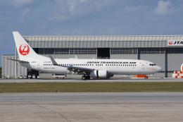 神宮寺ももさんが、那覇空港で撮影した日本トランスオーシャン航空 737-8Q3の航空フォト(飛行機 写真・画像)
