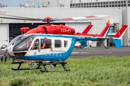 まんぼ しりうすさんが、東京ヘリポートで撮影した川崎市消防航空隊 BK117C-2の航空フォト(飛行機 写真・画像)