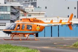 T spotterさんが、東京ヘリポートで撮影した新日本ヘリコプター 206L-3 LongRanger IIIの航空フォト(飛行機 写真・画像)