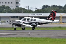 ワイエスさんが、鹿児島空港で撮影した崇城大学 G58 Baronの航空フォト(飛行機 写真・画像)