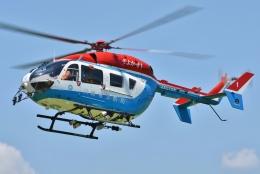 ブルーさんさんが、東京ヘリポートで撮影した川崎市消防航空隊 BK117C-2の航空フォト(飛行機 写真・画像)