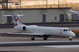 キャスバルさんが、フェニックス・スカイハーバー国際空港で撮影したジェットスウィートX ERJ-145LRの航空フォト(飛行機 写真・画像)