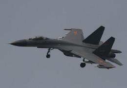 素快戦士さんが、HBCZで撮影した某国空軍 第1戦闘機師団( 鞍山) J-11Bの航空フォト(飛行機 写真・画像)