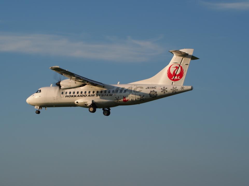 ここはどこ?さんの北海道エアシステム ATR 42 (JA11HC) 航空フォト