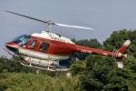 まんぼ しりうすさんが、茨城県で撮影したヘリサービス 206B-3 JetRanger IIIの航空フォト(飛行機 写真・画像)