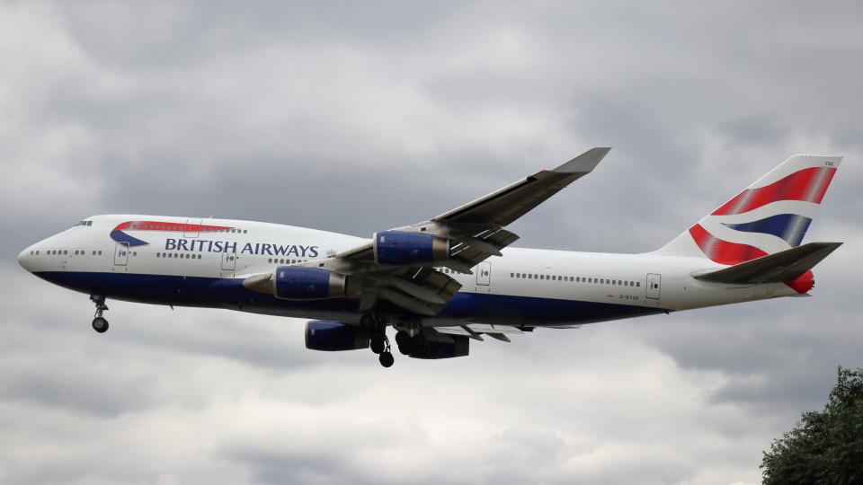 誘喜さんのブリティッシュ・エアウェイズ Boeing 747-400 (G-BYGE) 航空フォト