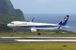 じーのさんさんが、八丈島空港で撮影した全日空 A320-214の航空フォト(飛行機 写真・画像)