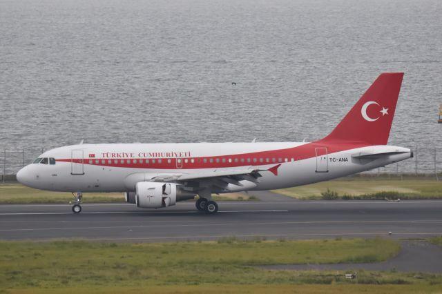 ながえいさんが、羽田空港で撮影したトルコ政府 A319-115CJの航空フォト(飛行機 写真・画像)