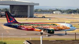 誘喜さんが、ロンドン・ヒースロー空港で撮影したブリュッセル航空 A320-214の航空フォト(飛行機 写真・画像)