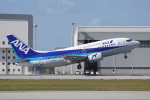 神宮寺ももさんが、那覇空港で撮影したANAウイングス 737-54Kの航空フォト(飛行機 写真・画像)
