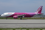 A.Tさんが、関西国際空港で撮影したピーチ A320-214の航空フォト(飛行機 写真・画像)