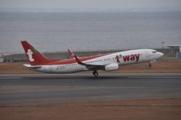 turenoアカクロさんが、中部国際空港で撮影したティーウェイ航空 737-8KNの航空フォト(飛行機 写真・画像)