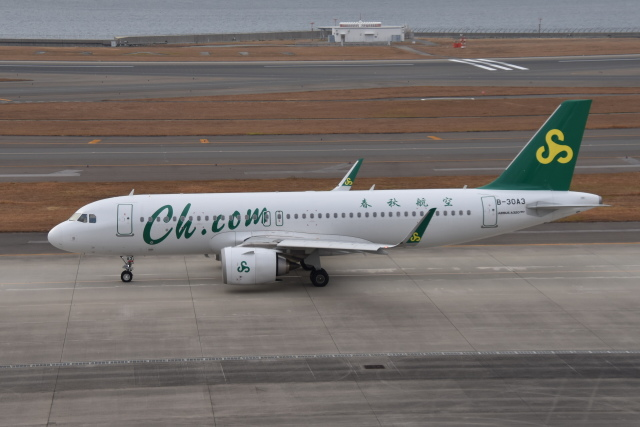 turenoアカクロさんが、中部国際空港で撮影した春秋航空 A320-251Nの航空フォト(飛行機 写真・画像)
