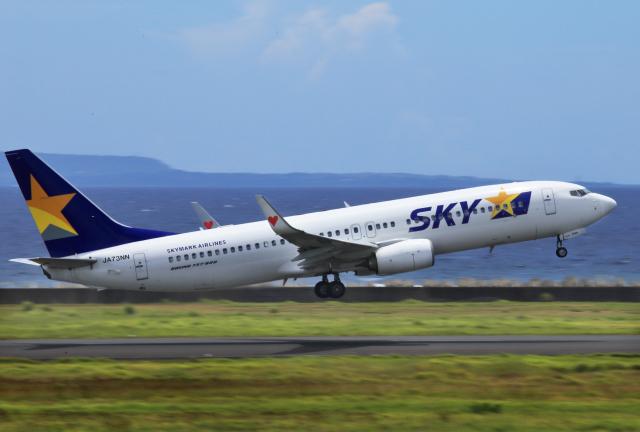 CL&CLさんが、奄美空港で撮影したスカイマーク 737-81Dの航空フォト(飛行機 写真・画像)