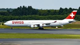 FlyingMonkeyさんが、成田国際空港で撮影したスイスインターナショナルエアラインズ A340-313Xの航空フォト(飛行機 写真・画像)