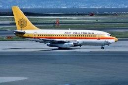 パール大山さんが、サンフランシスコ国際空港で撮影したAir California 737-159の航空フォト(飛行機 写真・画像)
