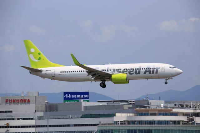 aki241012さんが、福岡空港で撮影したソラシド エア 737-86Nの航空フォト(飛行機 写真・画像)