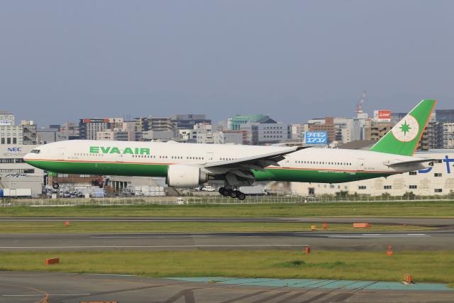 aki241012さんが、福岡空港で撮影したエバー航空 777-35E/ERの航空フォト(飛行機 写真・画像)