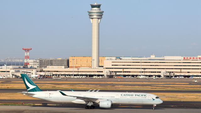 誘喜さんが、羽田空港で撮影したキャセイパシフィック航空 A350-1041の航空フォト(飛行機 写真・画像)