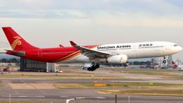 誘喜さんが、ロンドン・ヒースロー空港で撮影した深圳航空 A330-343Xの航空フォト(飛行機 写真・画像)