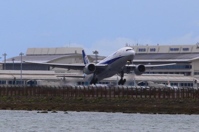 スターアライアンスKMJ まいやんさんが、那覇空港で撮影した全日空 777-281/ERの航空フォト(飛行機 写真・画像)