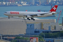 Souma2005さんが、香港国際空港で撮影したスイスインターナショナルエアラインズ A340-313Xの航空フォト(飛行機 写真・画像)