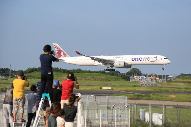 flyskyさんが、成田国際空港で撮影したカタール航空 A350-1041の航空フォト(飛行機 写真・画像)