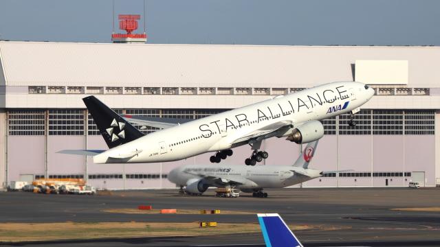 誘喜さんが、羽田空港で撮影した全日空 777-281の航空フォト(飛行機 写真・画像)