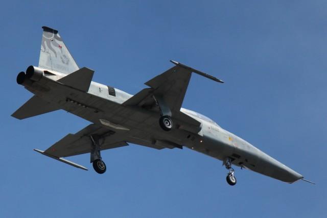 cassiopeiaさんが、花蓮空港で撮影した中華民国空軍 RF-5E Tigereyeの航空フォト(飛行機 写真・画像)
