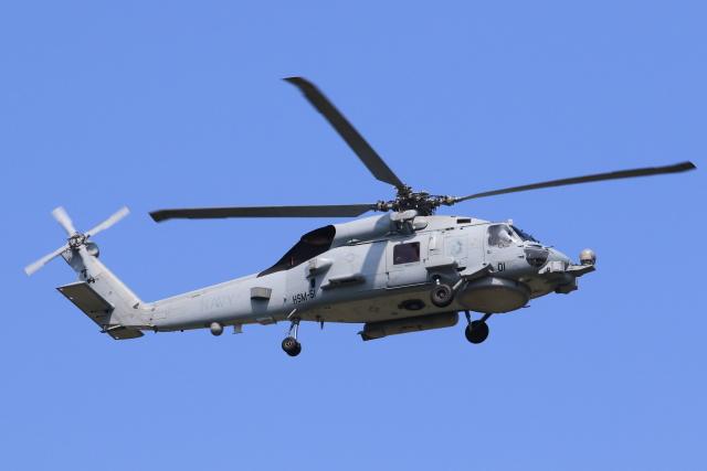 たまさんが、厚木飛行場で撮影したアメリカ海軍 MH-60R Seahawk (S-70B)の航空フォト(飛行機 写真・画像)
