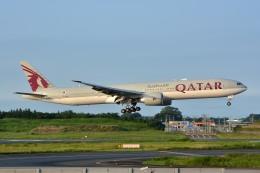 サンドバンクさんが、成田国際空港で撮影したカタール航空 777-3DZ/ERの航空フォト(飛行機 写真・画像)