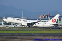 れんしさんが、福岡空港で撮影した日本トランスオーシャン航空 737-8Q3の航空フォト(飛行機 写真・画像)
