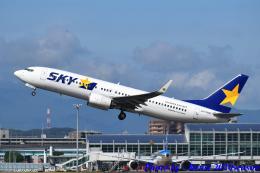 れんしさんが、福岡空港で撮影したスカイマーク 737-8FZの航空フォト(飛行機 写真・画像)
