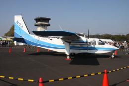 kahluamilkさんが、調布飛行場で撮影した新中央航空 BN-2B-20 Islanderの航空フォト(飛行機 写真・画像)
