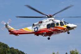 ブルーさんさんが、静岡ヘリポートで撮影した鳥取県消防防災航空隊 AW139の航空フォト(飛行機 写真・画像)