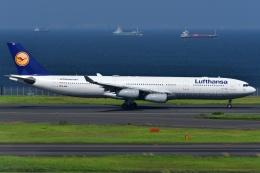 しまb747さんが、羽田空港で撮影したルフトハンザドイツ航空 A340-313Xの航空フォト(飛行機 写真・画像)