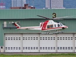 ここはどこ?さんが、札幌飛行場で撮影した朝日航洋 412EPの航空フォト(飛行機 写真・画像)