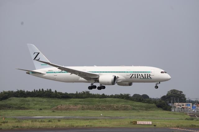 m_aereo_iさんが、成田国際空港で撮影したZIPAIR 787-8 Dreamlinerの航空フォト(飛行機 写真・画像)