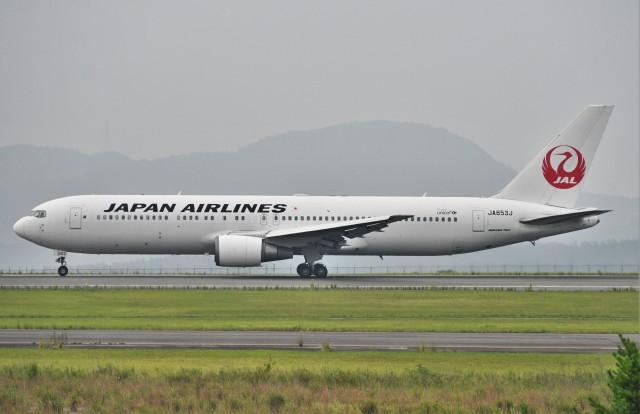 鉄バスさんが、広島空港で撮影した日本航空 767-346/ERの航空フォト(飛行機 写真・画像)