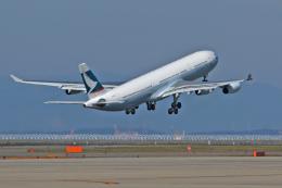 スカルショットさんが、中部国際空港で撮影したキャセイパシフィック航空 747-412の航空フォト(飛行機 写真・画像)