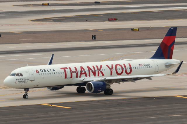 キャスバルさんが、フェニックス・スカイハーバー国際空港で撮影したデルタ航空 A321-211の航空フォト(飛行機 写真・画像)