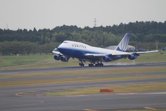 TAK_HND_NRTさんが、成田国際空港で撮影したユナイテッド航空 747-422の航空フォト(飛行機 写真・画像)
