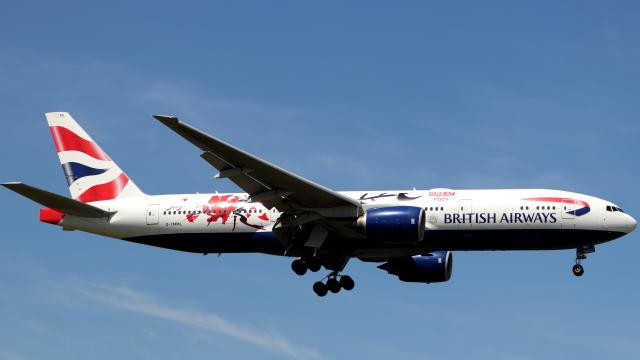 誘喜さんが、ロンドン・ヒースロー空港で撮影したブリティッシュ・エアウェイズ 777-236/ERの航空フォト(飛行機 写真・画像)