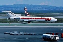 パール大山さんが、サンフランシスコ国際空港で撮影したウェスタン航空 727-247/Advの航空フォト(飛行機 写真・画像)