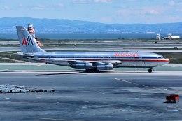 パール大山さんが、サンフランシスコ国際空港で撮影したアメリカン航空 707-123Bの航空フォト(飛行機 写真・画像)