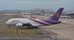 Hibiki Kanadeさんが、関西国際空港で撮影したタイ国際航空 A380-841の航空フォト(飛行機 写真・画像)